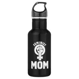 mamá feminista botella de agua