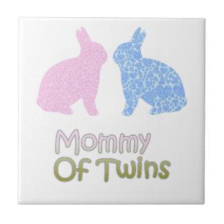 Mamá gemela azulejo de cerámica