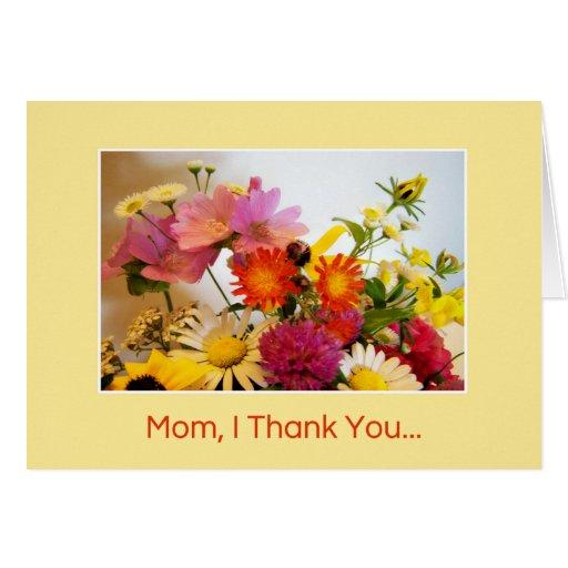 Mamá, le agradezco… tarjeta