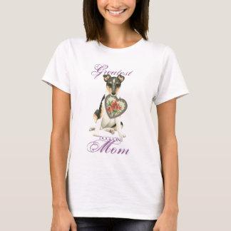 Mamá lisa del corazón del collie camiseta