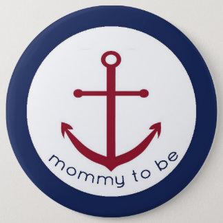 Mamá náutica del ancla a ser botón