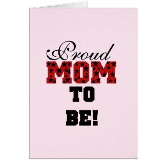 Mamá orgullosa a ser camisetas y regalos felicitaciones