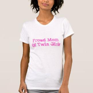 Mamá orgullosa de chicas gemelos camisas
