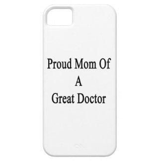 Mamá orgullosa de un gran doctor iPhone 5 protector