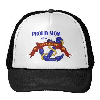 Mamá orgullosa de un marinero de los E.E.U.U. Gorros