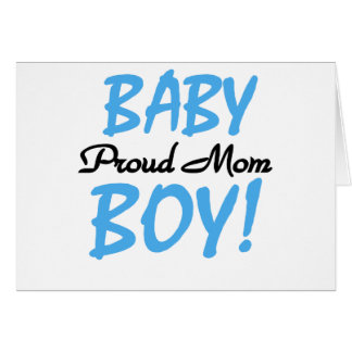 Mamá orgullosa del bebé tarjeta de felicitación