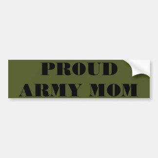 Mamá orgullosa del ejército de la pegatina para el pegatina para coche
