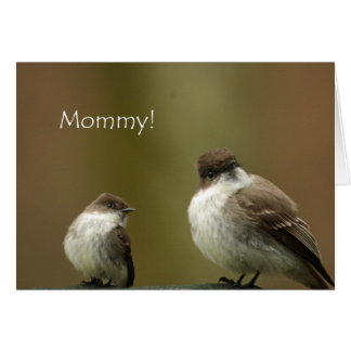 ¡Mamá! Pájaros felices del día de madre Tarjeta De Felicitación