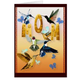 Mamá-Para a los pájaros en amarillo Tarjeta