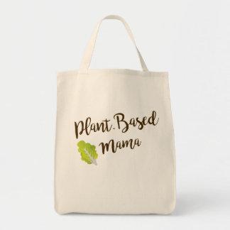 Mamá Planta-Basada Grocery Tote Bolso De Tela