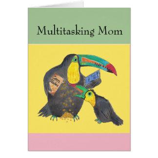 Mamá polivalente - tarjeta divertida con los