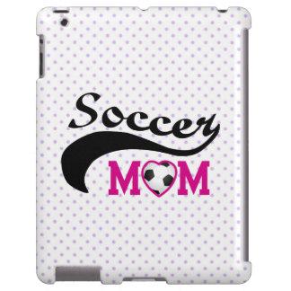 Mamá rosada del fútbol del corazón O