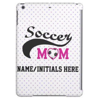 Mamá rosada personalizada del fútbol del corazón O