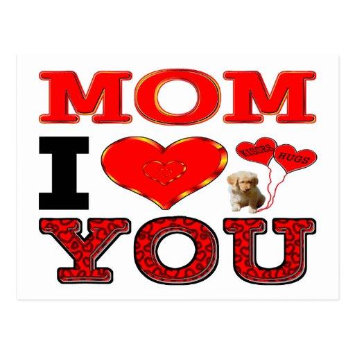 Mamá te amo tarjeta postal