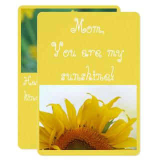 ¡Mamá, usted es mi sol! Invitación 12,7 X 17,8 Cm