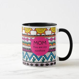 Mamá usted es mi taza adaptable del regalo de la