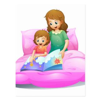 mamá y niño postal