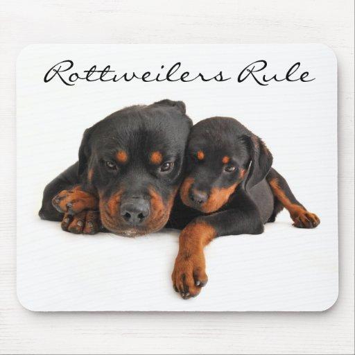 Mamá y perrito Rottweiler Mousepad de la regla de Tapetes De Raton ...