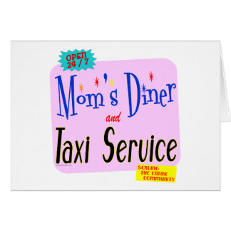 Mamáes comensal y refrán divertido del servicio de tarjetón