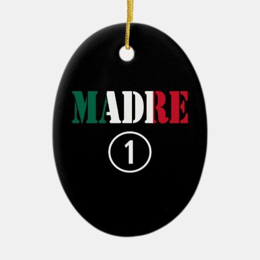 Mamáes mexicanas: Uno de Madre Numero Ornamento De Navidad