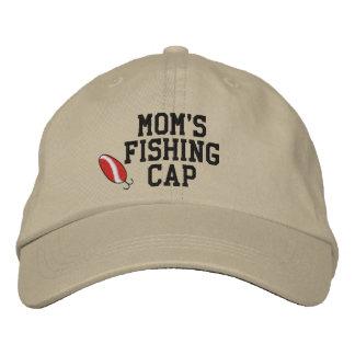 Mamáes que pescan el gorra bordado casquillo