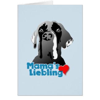 Mama's cariño tarjeta de felicitación