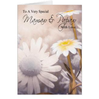 Mamaw y Papaw - tarjeta del día de los abuelos - m