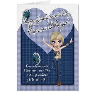 Mamaw y Papaw, tarjeta del día de los abuelos - pe