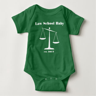 Mameluco 2017 del bebé del colegio de abogados