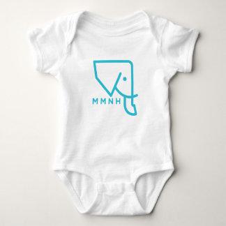 Mameluco azul del bebé del elefante de MMNH