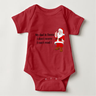 Mameluco Bebe Navideño Santa Claus Camiseta