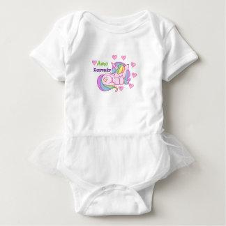 Mameluco con Tutu para bebé body unicornio
