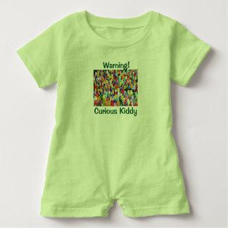 Mameluco curioso del niño camisas