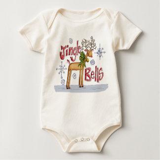 Mameluco de Jingle Bell del bebé/reno lindo de la Bodys