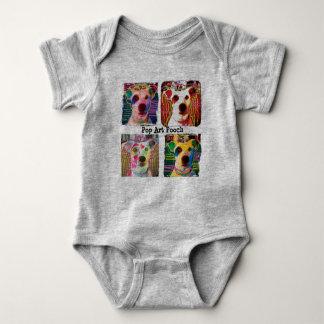 Mameluco del bebé del chucho del arte pop