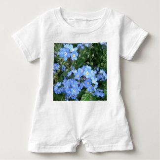 Mameluco del bebé del *Forget-Me-Not* Camisetas