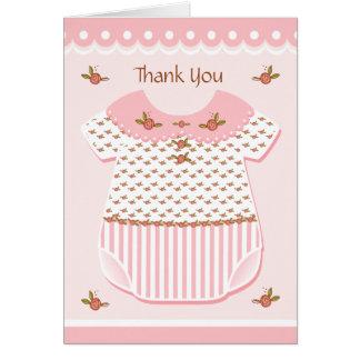 Mameluco del bebé del rosetón tarjeta de felicitación