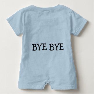 """Mameluco del bebé """"hola, adiós. """""""