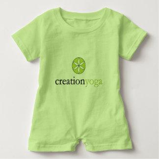 Mameluco del bebé (lima agria) camisetas