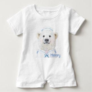 Mameluco del bebé - marinero del oso del bebé