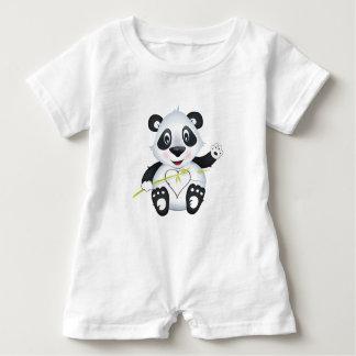 """Mameluco del carácter de la panda del """"pequeño del"""