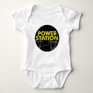 Mameluco del Estación-logotipo del poder Camiseta