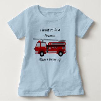 Mameluco del Firetruck para los muchachos