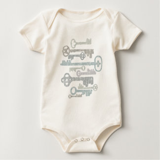 Mameluco/enredadera del bebé de las llaves body para bebé