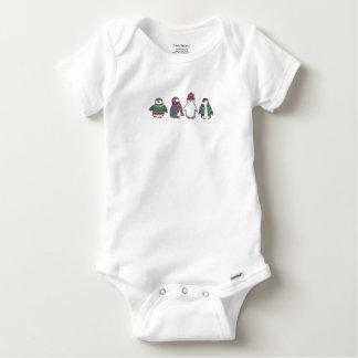 Mameluco hivernal del bebé de los pingüinos