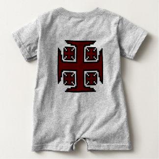 Mameluco rojo del bebé de Kross™ Camisetas