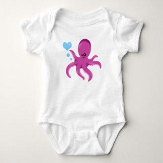 ¡Mameluco unisex náutico del bebé del pulpo! Body Para Bebé