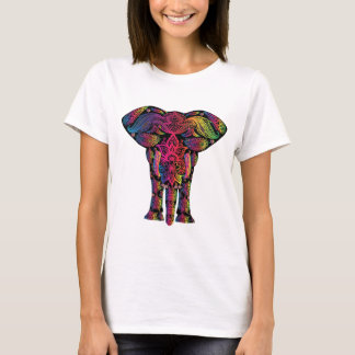 Mamífero decorativo del animal del elefante camiseta