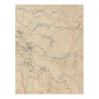 Mammoth Hot Springs y vecindad 2 Postal