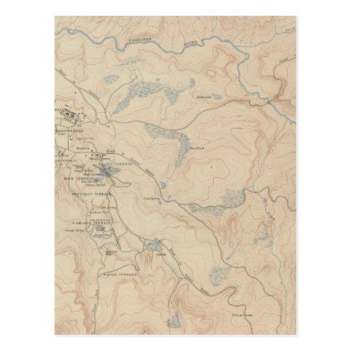 Mammoth Hot Springs y vecindad 2 Postales